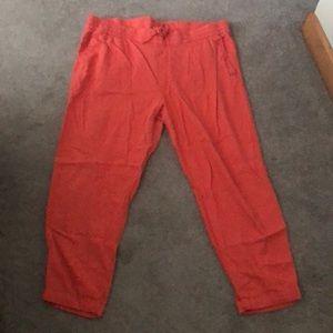 Linen ankle length pants